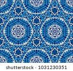 ornamental geometric abstract... | Shutterstock . vector #1031230351
