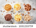 set of various breakfast cereal ... | Shutterstock . vector #1031233759