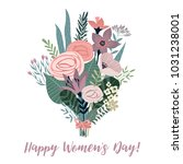 international women's day.... | Shutterstock .eps vector #1031238001