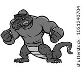 gator mascot extreme...   Shutterstock .eps vector #1031240704