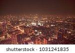 bangkok city lights | Shutterstock . vector #1031241835