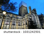 durham cathedral in the evening | Shutterstock . vector #1031242501