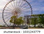 ferris wheel in paris | Shutterstock . vector #1031243779