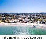 st kilda beach aerial with... | Shutterstock . vector #1031248051