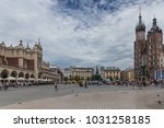 krakow old market square | Shutterstock . vector #1031258185