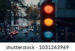 city evening landscape | Shutterstock . vector #1031263969