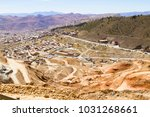 potosi aerial view bolivia... | Shutterstock . vector #1031268661