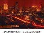 bangkok night view with... | Shutterstock . vector #1031270485