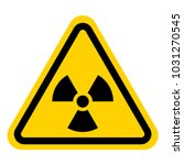 danger radiation sign vector | Shutterstock .eps vector #1031270545