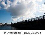 galata bridge and new mosque in ... | Shutterstock . vector #1031281915