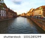 strasbourg city view | Shutterstock . vector #1031285299