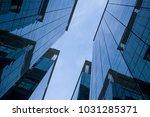 city landscape. the sky between ... | Shutterstock . vector #1031285371
