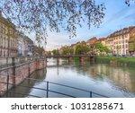 strasbourg canal view | Shutterstock . vector #1031285671