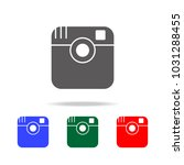 camera line icon. elements in...