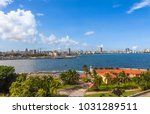 cuba. view from morro castle to ... | Shutterstock . vector #1031289511