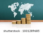 graph coins stock finance and...   Shutterstock . vector #1031289685