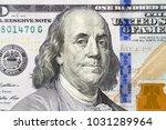 dollars closeup  benjamin... | Shutterstock . vector #1031289964