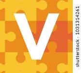 v initials puzzle alphabet logo | Shutterstock .eps vector #1031314261