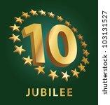jubilee  golden laurel wreath...   Shutterstock .eps vector #103131527