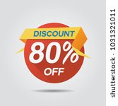 discount sale up to 80  off... | Shutterstock .eps vector #1031321011