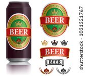 beer label vector visual on... | Shutterstock .eps vector #1031321767