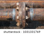 weld pipe joints made by manual ... | Shutterstock . vector #1031331769