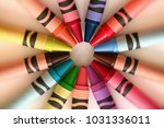 Crayons Color Pencils Circular...