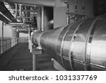 cold and hot pipe insulation on ...   Shutterstock . vector #1031337769