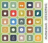 fruit flat icons on green... | Shutterstock .eps vector #1031339641