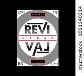 revival cool awesome typography ... | Shutterstock .eps vector #1031340214