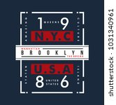nyc usa cool awesome typography ... | Shutterstock .eps vector #1031340961