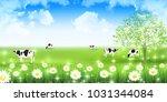 cow ranch landscape background   Shutterstock .eps vector #1031344084