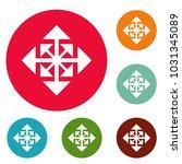 cursor displacement arrow icons ... | Shutterstock . vector #1031345089
