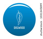 dogwood leaf icon  blue circle... | Shutterstock . vector #1031345899