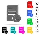 download document icon.... | Shutterstock .eps vector #1031354635