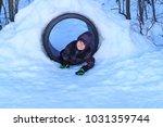 Happy Boy Playing A Snow - Fine Art prints