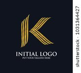 initial k classic logo icon | Shutterstock .eps vector #1031364427