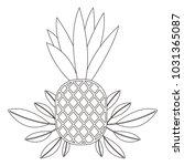 pineapple fresh fruit with...   Shutterstock .eps vector #1031365087