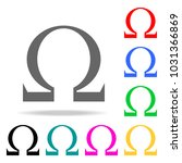 omega sign icon. elements in... | Shutterstock .eps vector #1031366869