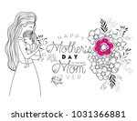 happy mothers day lifting a son | Shutterstock .eps vector #1031366881