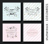 mothers day hand made font... | Shutterstock .eps vector #1031368021