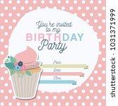 happy birthday party invitation ... | Shutterstock .eps vector #1031371999