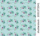 beautiful flowers pattern... | Shutterstock .eps vector #1031372041
