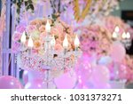 the candlesicks decorate... | Shutterstock . vector #1031373271