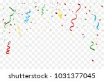 many falling colorful tiny... | Shutterstock .eps vector #1031377045