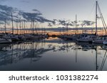 yachts in the harbour on a... | Shutterstock . vector #1031382274