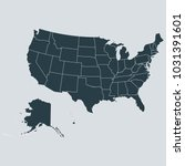 usa map on gray background... | Shutterstock .eps vector #1031391601