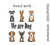 animal world we are dog puppy... | Shutterstock .eps vector #1031391931