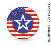 united state of america flag on ... | Shutterstock .eps vector #1031411011