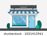 pharmacy drugstore design with... | Shutterstock .eps vector #1031412961